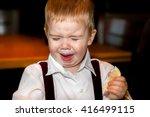 a little boy makes an awful...   Shutterstock . vector #416499115
