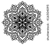 ornamental round doodle flower... | Shutterstock .eps vector #416504095
