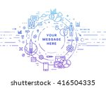 circle frame with place for... | Shutterstock .eps vector #416504335