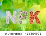 Npk Letters Made Of Mineral...
