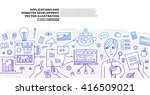 set of application development  ... | Shutterstock .eps vector #416509021