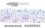 set of application development  ...   Shutterstock .eps vector #416509021