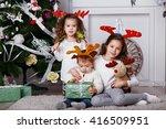 Little Children In Reindeer...