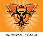 vector biohazard logo with... | Shutterstock .eps vector #4165123