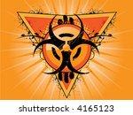 vector biohazard logo with... | Shutterstock .eps vector #4165123