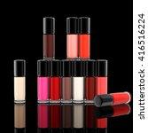 set of photorealistic bright... | Shutterstock . vector #416516224