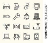 computer components web icons... | Shutterstock .eps vector #416518357
