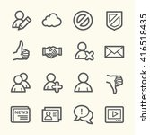community. social media icons... | Shutterstock .eps vector #416518435