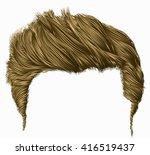 trendy stylish man hairs fringe.... | Shutterstock .eps vector #416519437