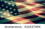 closeup of grunge american usa...   Shutterstock . vector #416537404