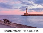 Lighthouse In Old Harbour Of...