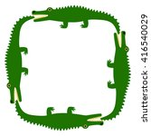 background of the crocodile.... | Shutterstock .eps vector #416540029