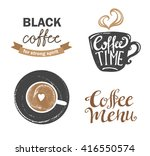 set of vintage retro coffee... | Shutterstock .eps vector #416550574