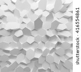 white abstract hexagons... | Shutterstock . vector #416554861
