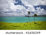 horizon from Lord Howe Island Australia - stock photo
