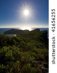 Mountain Lord Howe Island - stock photo