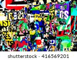 photograph of random collage... | Shutterstock . vector #416569201