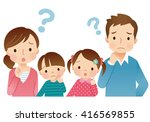 cute style young family | Shutterstock . vector #416569855