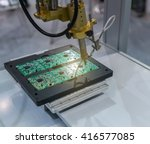 pcb processing on cnc machine... | Shutterstock . vector #416577085