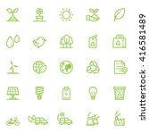 ecology icons with white... | Shutterstock .eps vector #416581489