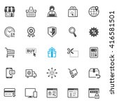 e commerce and online shopping...   Shutterstock .eps vector #416581501