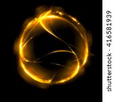 abstract fiery ring background... | Shutterstock . vector #416581939