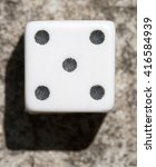 dice up close macro view. | Shutterstock . vector #416584939