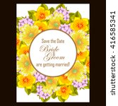 romantic invitation. wedding ... | Shutterstock . vector #416585341