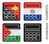 nation flag. calculator... | Shutterstock . vector #416585551