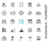 Travel And Vacation Icons With...