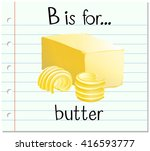 alphabet b is for butter... | Shutterstock .eps vector #416593777