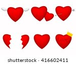 this is image of red hearts  | Shutterstock .eps vector #416602411