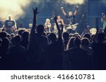 crowd at concert and blurred ... | Shutterstock . vector #416610781