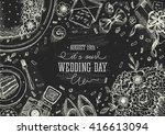 wedding party background....   Shutterstock .eps vector #416613094