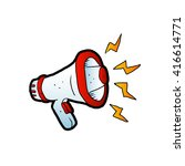 megaphone cartoon  | Shutterstock .eps vector #416614771