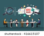 vector business teams... | Shutterstock .eps vector #416615107