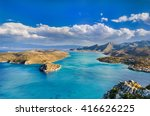 panoramic view of spinalonga... | Shutterstock . vector #416626225