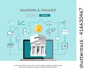 banking and finance. concept... | Shutterstock .eps vector #416630467