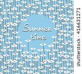 doodle seamless pattern.... | Shutterstock .eps vector #416631271