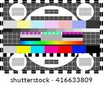 glitch digital image data... | Shutterstock .eps vector #416633809