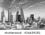 london skyline with beautiful... | Shutterstock . vector #416634181
