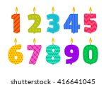 vector flat design birthday... | Shutterstock .eps vector #416641045