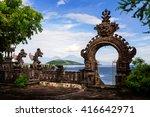 gardian statue at entrance bali ... | Shutterstock . vector #416642971