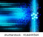 blue abstract hi speed internet ... | Shutterstock . vector #416644564