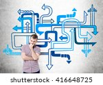 different direction concept...   Shutterstock . vector #416648725