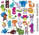 Zoo Alphabet With Cute Animals...