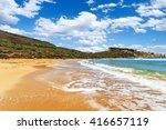 a view of a golden bay in ghajn ...   Shutterstock . vector #416657119