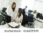 business people working... | Shutterstock . vector #416659549