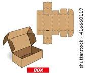 cutting a rectangular box   Shutterstock .eps vector #416660119