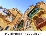 view of typical buildingsin...   Shutterstock . vector #416660689